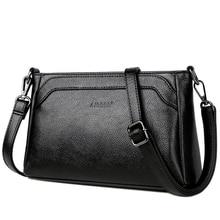 High Quality Genuine Leather Women Shoulder Bag 2019 Luxury Messenger Women Bags Designer Waterproof Crossbody Bag Ladies Bag стоимость