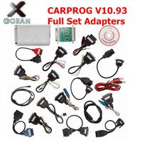 Mais novo V10.93 V10.93 Carprog Car Prog CARPROG Ferramenta de Reparo Do Carro ECU Chip Tunning Carprog 10.93 Com Todos Os Itens Adaptadores 21
