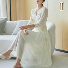 2021 Spring V-neck Elegant Fairy Party Dress Long Sleeve Solid Color High Waist Vestido Longo Fashionable Women's Clothing