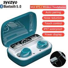 M10 twsワイヤレスヘッドフォンbluetooth音楽イヤホンIPX7防水イヤハイファイステレオヘッドセットすべてスマートフォン上で動作