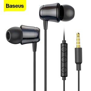 Image 1 - Baseus com fio fone de ouvido fone de ouvido fone de ouvido fone de ouvido fone de ouvido com microfone fones de ouvido fone de ouvido para iphone samsung fone de ouvido