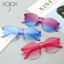 XojoX Colorful Sunglasses Women Fashion Luxury Candy colors Rimless