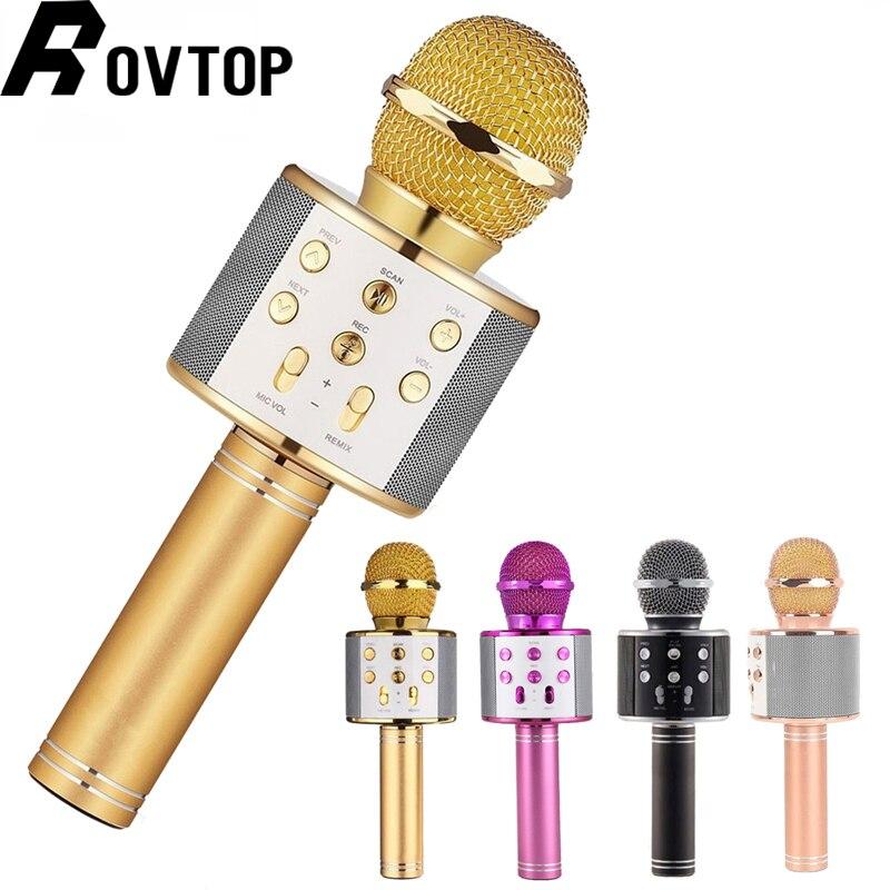 WS 858 беспроводной USB микрофон профессиональный конденсаторный караоке микрофон bluetooth подставка радио mikrofon студия записи студия WS858