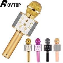 WS 858 kablosuz usb'li mikrofon profesyonel kondenser karaoke mikrofon bluetooth standı radyo mikrofon stüdyosu kayıt stüdyosu WS858