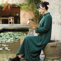 LZJN 2019 Autumn Winter Women Thick Fleece Dress Turtleneck Casual Loose Warm Long Maxi Kaftan Robe Plus Size Dress