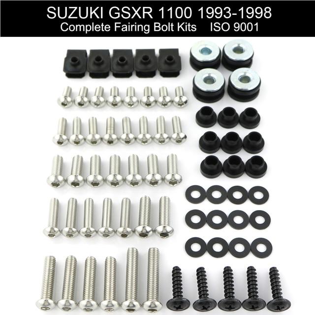 עבור סוזוקי GSXR 1100 GSXR1100 1993 1998 מלא מלא ברגי Fairing להריון ולידה ערכת ברגים קליפים מהירות אגוזי כיסוי ברגים