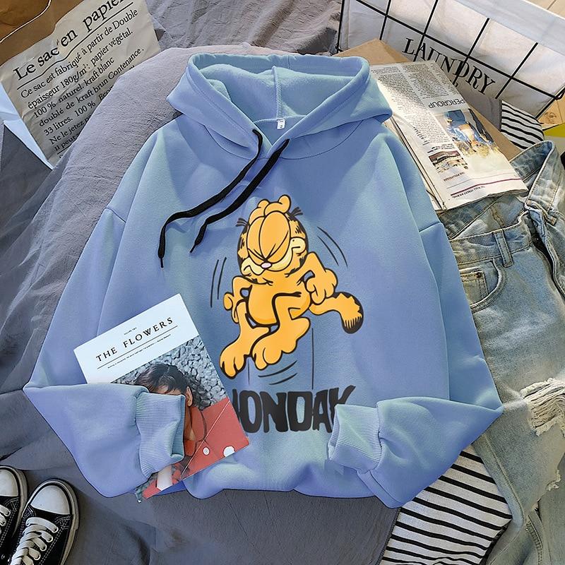 2020 Spring And Autumn Harajuku Plus Velvet Thickened Female Long-sleeved Hooded Sweatshirt Female Korean Loose Sweatshirt