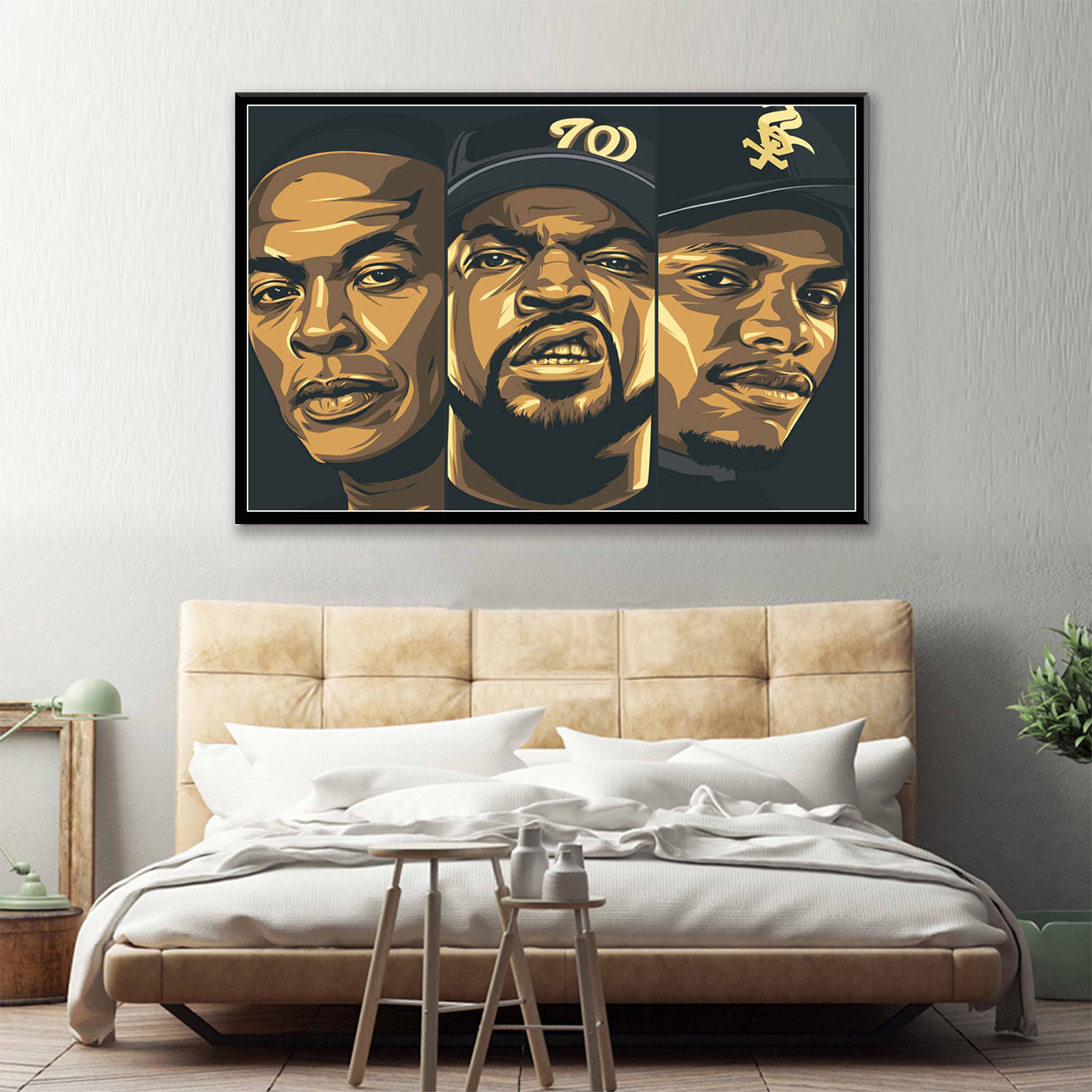 "poster wall art home decor photo print 24x24/"" inches YG Why You Always Hatin"