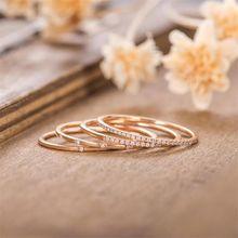 Fdlk 4 шт/компл изысканные кольца из розового золота стразы