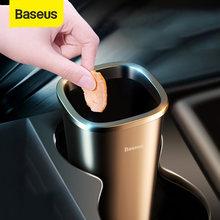 Baseus-cubo de basura de coche, organizador automático, bolsa de almacenamiento, accesorios de coche, caja de basura, Cenicero, bolsa de residuos