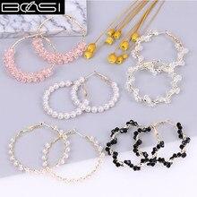 BOSI 2021 hoop earrings fashion jewelry hoops earrings for Women crystal pearl earrings drop simple earring cute boho luxury cc