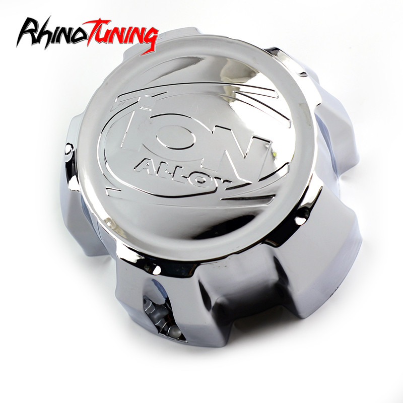 1pc 139mm ION Chrome Car Wheel Center Hub Cap for C101713 11531580F-4C202204 171 174 179 <font><b>5x139.7</b></font> Rims Center cap for rims image
