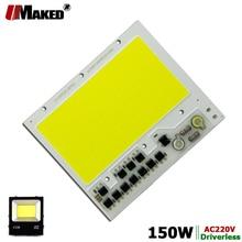 AC 220V LED COB 100W 136X115MM LED PCB הארה מודול אלומיניום צלחת לבן/חם COB שבבי חכם IC נהג עבור זרקור מנורה