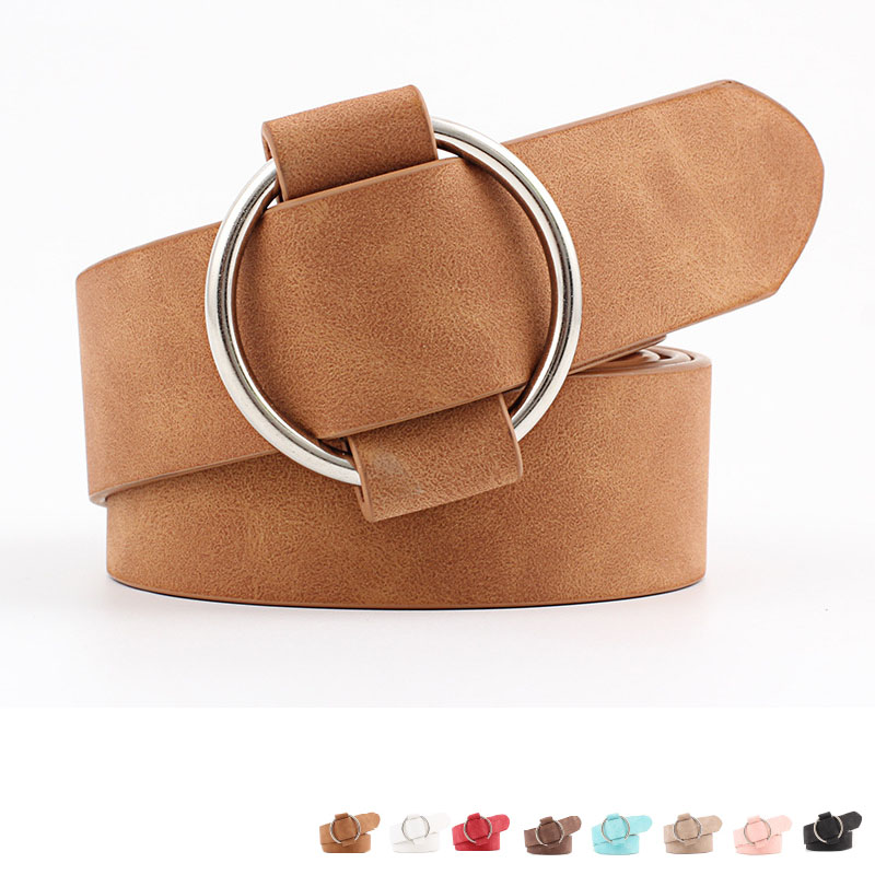 2019 New Fashion Womens Designer Round Casual Ladies Belts For Jeans Modeling Belts Without Buckles Leather Belt Cinturon Mujer