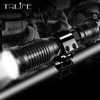 10000 lúmenes actualizado V6 L2 T6 caza linterna LED táctica de luz ajustable 5 modos linterna de la lámpara de la linterna que usar arma de 18650 montaje
