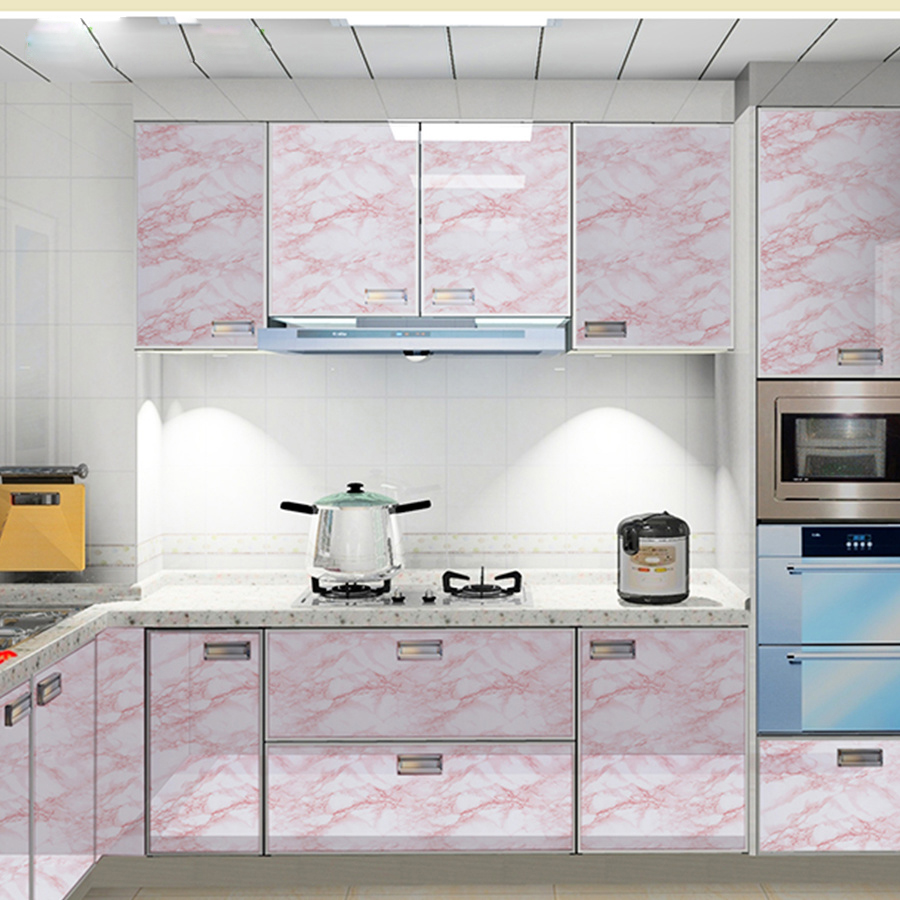 Modern Waterproof Vinyl Self Adhesive Wallpaper Marble Paper Kitchen Cupboard Shelf Drawer Liner Wall Stickers Wallpapers Aliexpress