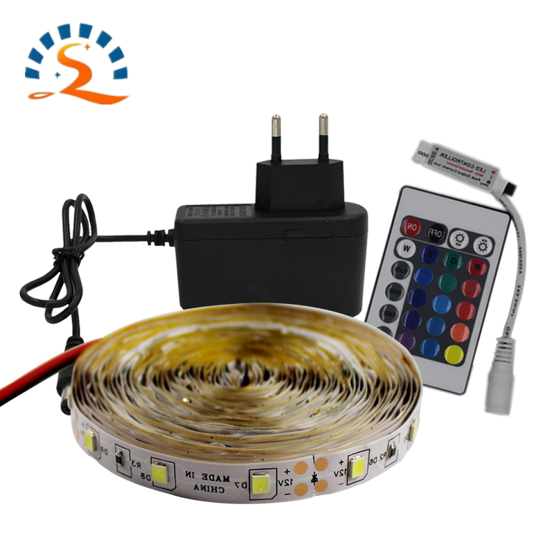 2835 LED Strip Light 12V Waterproof RGB 5m 10m Flexible Diode Tape Ribbon With Remote Control Red Blue Warm White Green