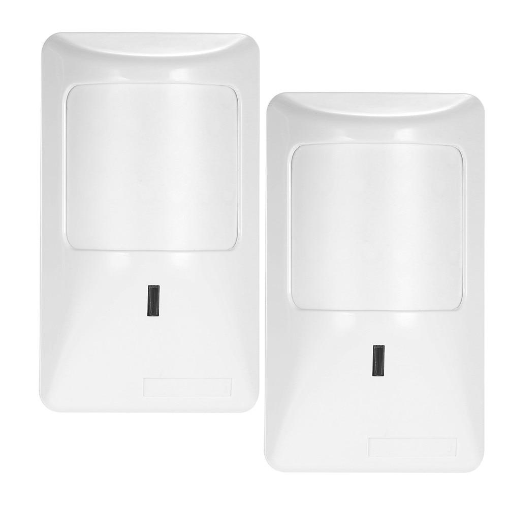 2x Anti-Pet PIR Motion Sensor Wired Alarm Dual Infrared Detector Pet Immune Infrared PIR Motion Sensor Swich