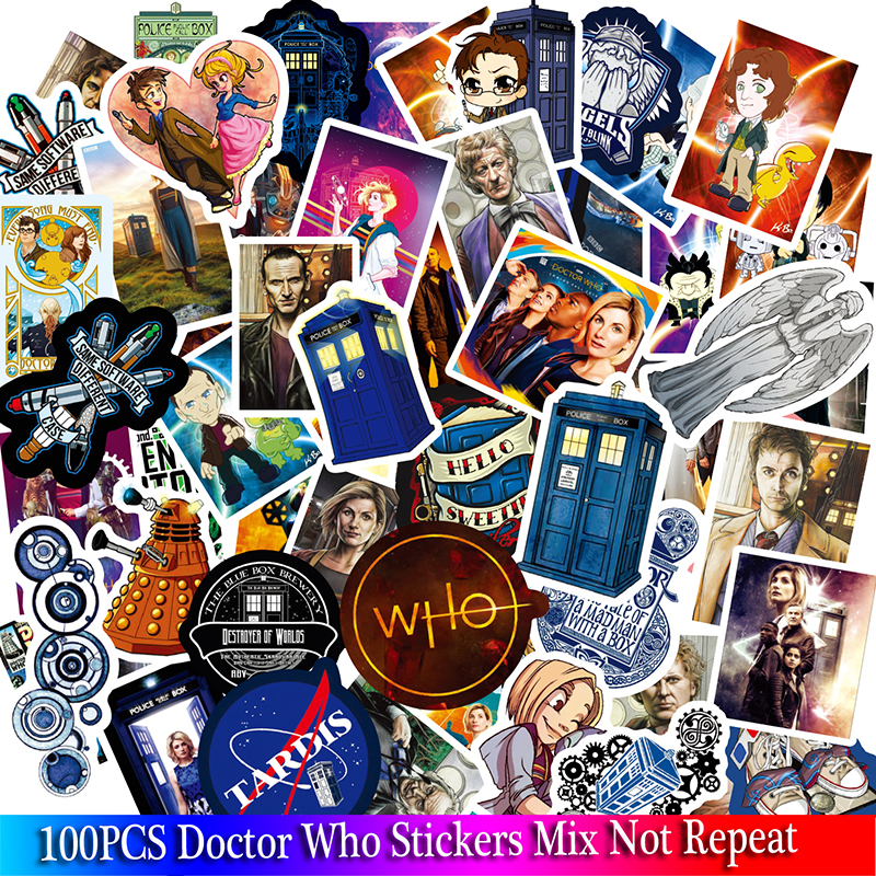 100PCS Doctor Who Stickers TV Series For Luggage Car Laptop Notebook Decal Fridge Skateboard Sticker Cartoon Stickers