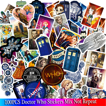 100PCS Doctor who Stickers TV Series For Luggage Car Laptop Notebook Decal Fridge Skateboard Sticker Cartoon - discount item  40% OFF Classic Toys