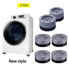 4 pés de borracha durável empilhável pé da esteira da máquina de lavar dos pces suportes para amortecedores do secador da arruela anti-almofada antiderrapante da vibração