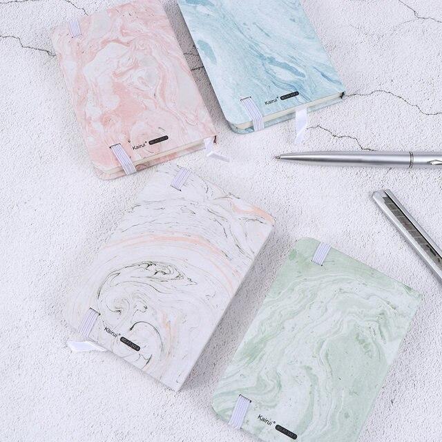 Moda japoński piśmienne marmurowe wzory Notebook sztywne etui A7 Planner notatnik pamiętnik szkolne materiały biurowe Escolar