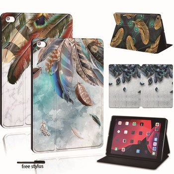 PU Leather Smart Tablet Stand Folio Cover - Ultra-thin Various Feather colors Slim Case For iPad 2 3 4 5 6 /iPad MINI / Air/Pro for ipad 2 3 4 5 6 7 air 1 2 3 pro 11 2018 2020 pu leather tablet stand folio cover ultra thin star colors slim case
