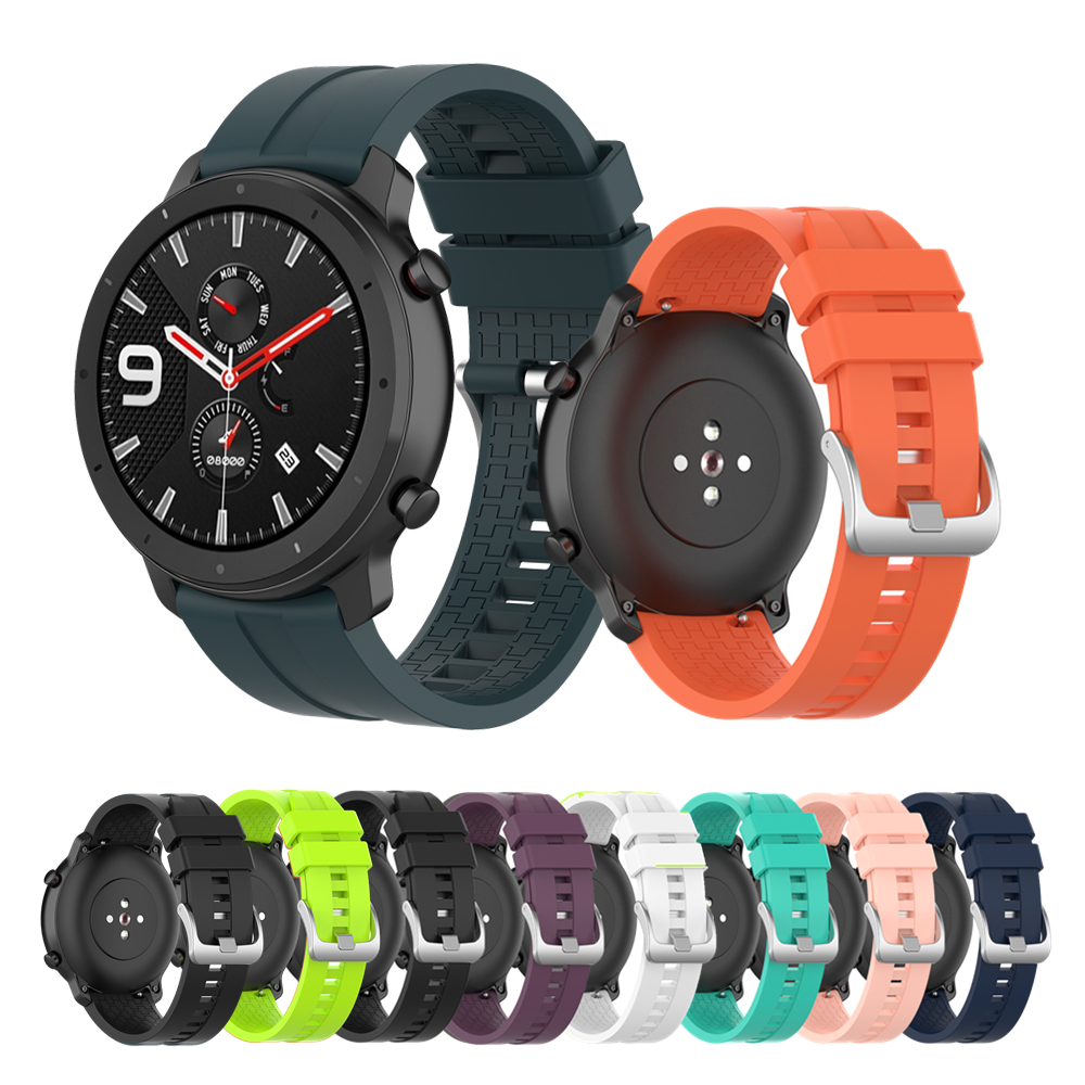 Silicone Band For Amazfit Gtr Watch Strap For Xiaomi Amazfit Gtr 47mm For Samsung Galaxy Gear S3 46mm Straps For Polar Vantage M