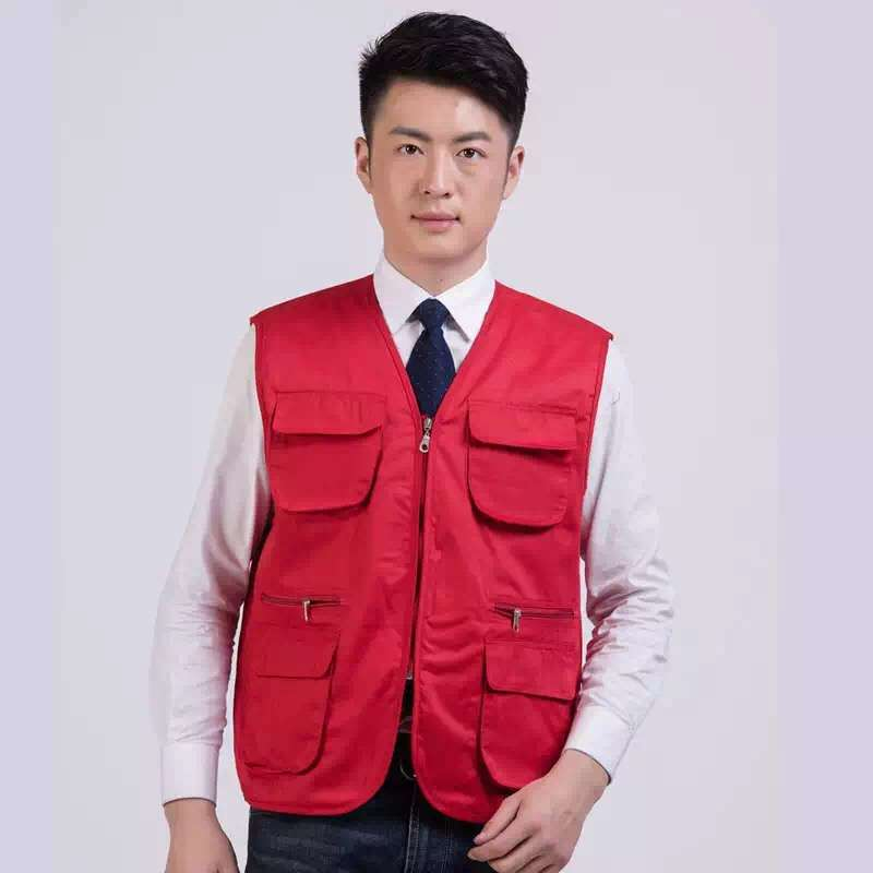 Waistcoat Multi-color Selectable Labor Safety Workwear Soft Pocket Clothing Cold Casual Vest