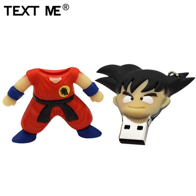 TEXT ME pen drive 4GB 8GB 32GB 64GB cartoon Dragon Ball Goku Kuririn pendrive 16gb usb flash drive 4