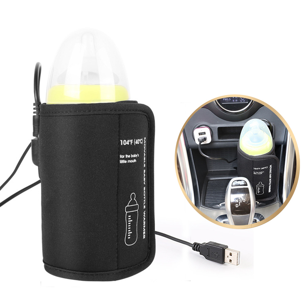 Portable Milk Bottle Warmer For Babies USB Charging Heating Thermo Bag Keep Baby Milk Or Water Warm  Baby Stuff