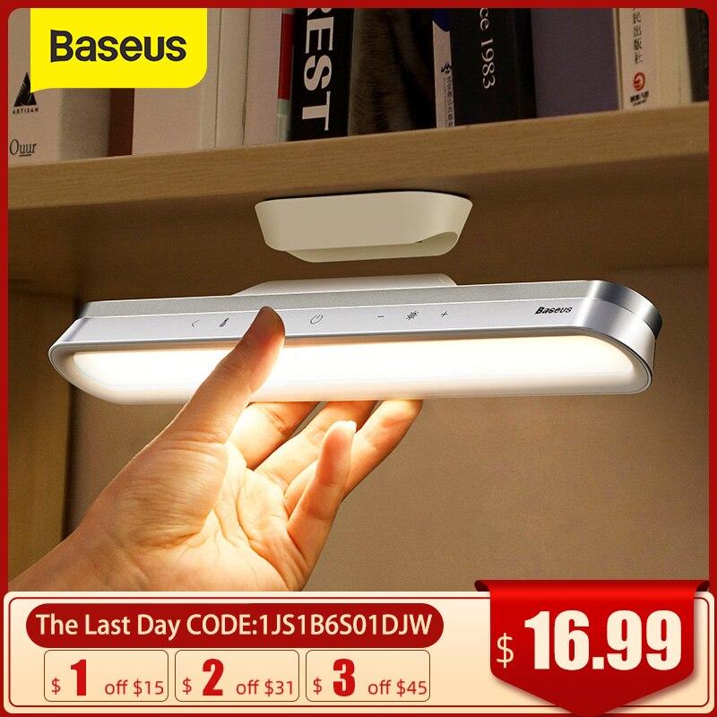 Настольная лампа Baseus, магнитный светодиодный светильник для шкафа с плавным затемнением, с аккумулятором, ночсветильник для шкафа, гардеро...