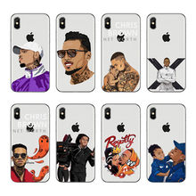O cantor Chris Brown Breezy RNB Soft silicone TPU Caso Telefone Para o iphone 5 6 7 8 X Plus Galaxy Grande Nucleo Prime Alfa(China)