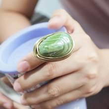 MANILAI Bohemia el yapımı seramik yüzükler kadınlar için moda takı altın renkli tel sarmal yara boncuk parmak yüzük
