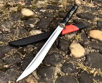 손으로 만든 전술 glaive Cosplay Sword falchion 스프링 스틸 블레이드 Dao knife-edge Saber