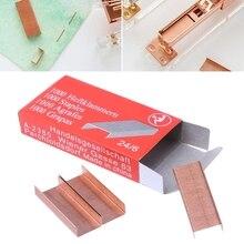 1000Pcs/Box 12mm 12# 24/6 Creative Metal Staples Office School Binding Supplies W0YE
