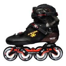 2019 100% Original SEBA TRIX PRO 3 커프스 전문 성인 인라인 스케이트 탄소 섬유 신발 슬라럼 슬라이드 무료 스케이트 Patines