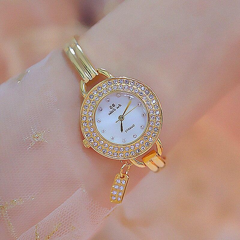 2020 Hot New Lady Set High-grade Brick Watch List Custom Diamond Drill Ms Fritillaria Quartz