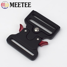 5/10pcs Meetee ID50mm Metal Quick Release Buckle for Belt Safety Hooks Clips DIY King Cobra Outdoor Luggage Supplies YK201