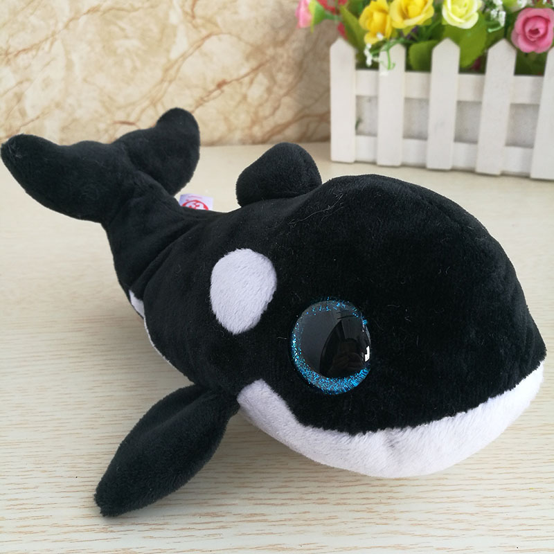 15CM NONA <font><b>orcas</b></font> <font><b>whale</b></font> soft <font><b>plush</b></font> toys stuffed animals baby kids toys cute dolls big eyes real picture children's day gif image