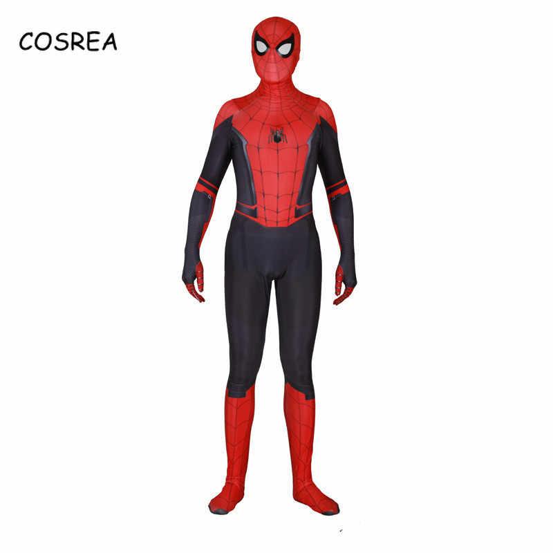 بدلة الرجل العنكبوت بعيدة عن المنزل بيتر باركرز تأثيري ثلاثية الأبعاد طباعة العنكبوت خارقة ارتداءها بدلة حللا