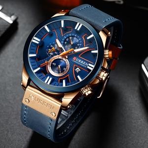 Image 4 - 2019 CURREN Mens Watches Top Brand Luxury Fashion Leather Strap Sport Quartz Watches Outdoor Casual  Wristwatch Waterproof Clock