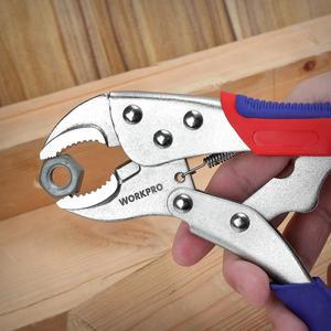 "Image 4 - WORKPRO 3PCคีมล็อคเครื่องมือเชื่อมคีมชุด7 ""10"" คีมปากคีบโค้ง6 1/2 ""คีมปากคีบ"