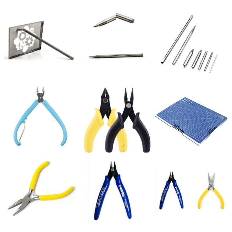 Инструмент для 3D металлические пазлы в сборе ножницы-щипцы плоскогубцы Пинцет точилка для карандашей с пряжкой изгиб инструменты для изгот...