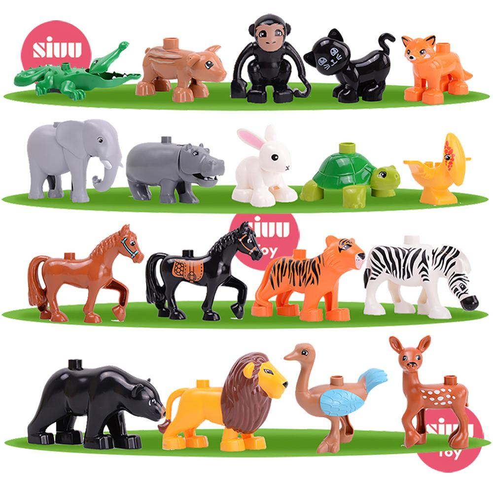 Single sale Animal Series Model Figures Big Building Blocks Educational Toys For Kids