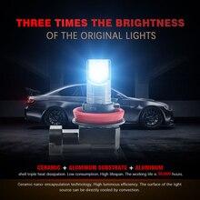 2Pcs H11/H8 LED Headlight High or Low Beam Bulbs 110W 6000LM 6000K White Car Accessories LED light tool Auto Parts Headlight