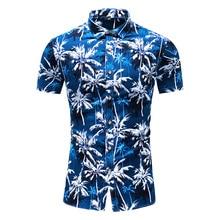Fashion Flower Design Short Sleeve Casual Shirts Men's Hawaiian Blouse 2021 Summer Clothing Plus Asian Size 5XL 6XL