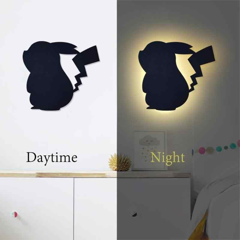 Kızdırma karikatür hayvan kabak aydınlık duvar çıkartması işık ev süsler yatak odası lambası dekorasyon cadılar bayramı süslemeleri