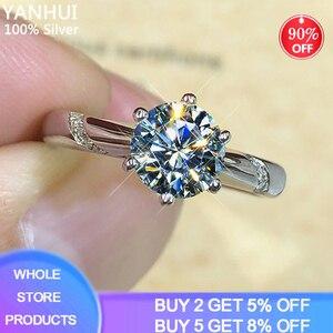 В наличии кольцо полуразмера 1,0ct, натуральный Цирконий, бриллиантовое серебряное кольцо, прошли тест на оригинальное серебро 925 пробы, ювели...