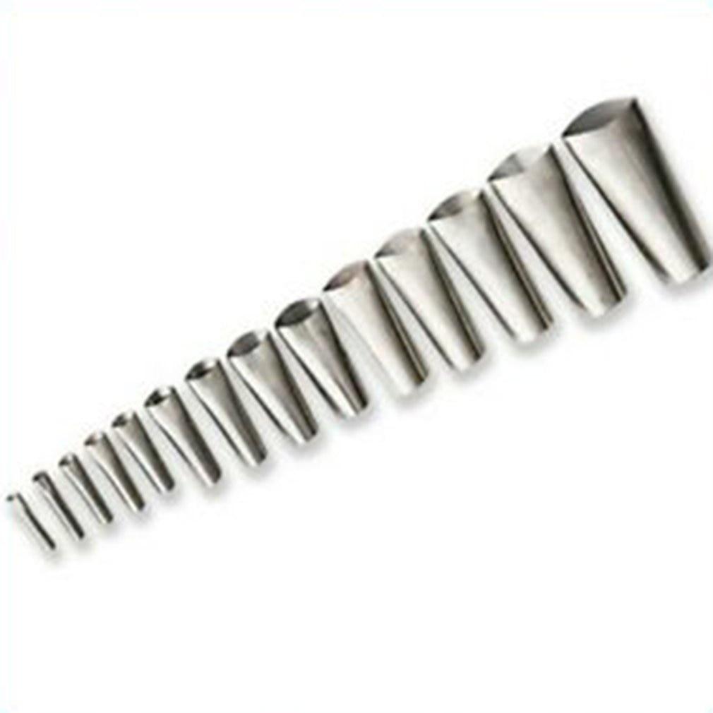 14pcs Stainless Steel Brick Grout Detachable Sealing Push Rod Durable Reusable Mortar Sprayer Caulking Nozzle